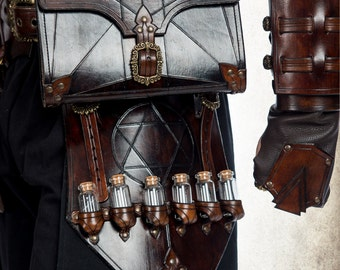 Alchemist glove - medieval gauntlet for LARP, action roleplaying and cosplay