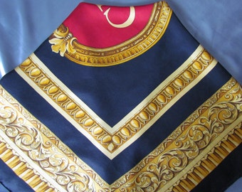 Vintage French Twill Silk Scarf Christian Dior