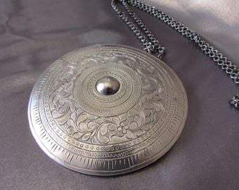 Reserved for Juha, Vintage Ethnic Necklace, Large Ethnic Pendant