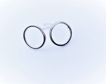 2pc, 925 sterling silver circle post earrings, Sterling silver round post earrings, silver post earrings, o shape posts, silver circle posts
