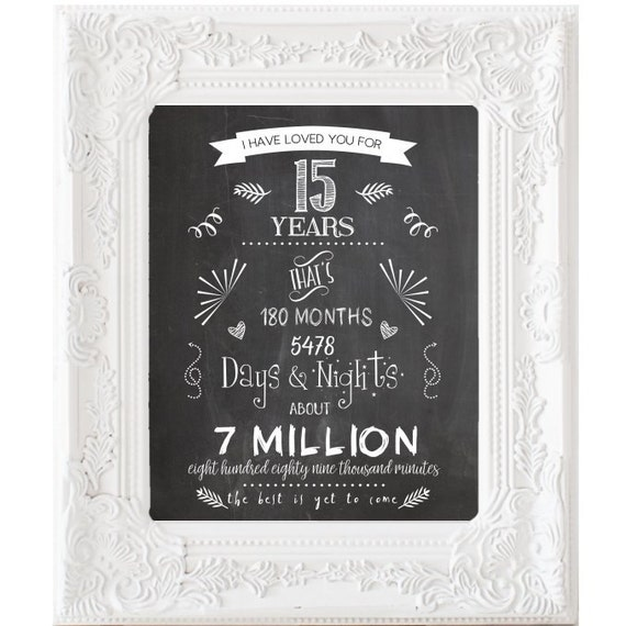 15th Wedding Anniversary Gift Ideas For Parents : ... Wedding gift, 15th Year Wedding day, Gift for Parents DIGITAL FILES