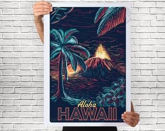 Hawaiian Nights Travel Poster
