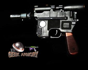 STAR WARS Han Solo Blaster Prop Replica Custom Painted Realistic
