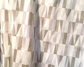 Swedish 50s geometric Sven Markelius Prisma gray vintage fabric high quality. 7 yards of fabric