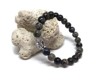 Llanite Buddha bracelet, Mala bracelet, Chakra bracelet, Llanite bracelet
