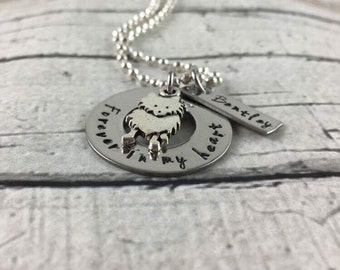 Remembrance necklace, personalized, hand stamped, pet lovers