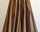 long Skirt Steampunk brown golden