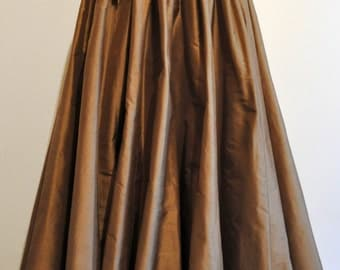 long Skirt Steampunk brown golden