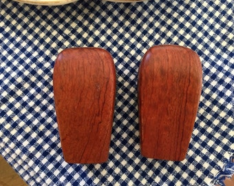 Teak Salt and Pepper Shakers, Mid Century, Modern Style, Gift Idea