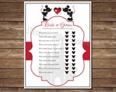 Disney He Said She Said with Mickey and Minnie Kissing - Printable - Cinderella Castle - Instant Download