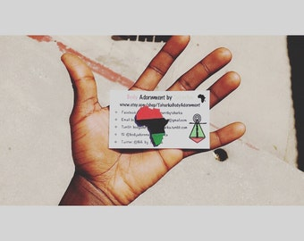 Small Garveyite Africa Pin, Brooch, Lapel Pin, Pan African