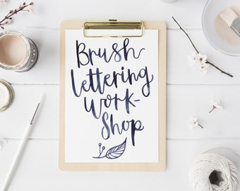Brushlettering Workshop in the Cotswolds 13th August 2017, brush calligraphy class, modern calligraphy, hand lettering.