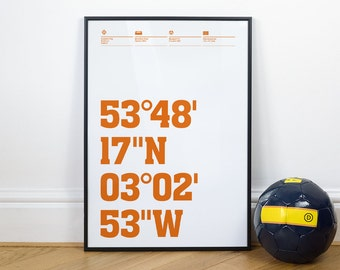 Blackpool Football Stadium Coordinates Posters