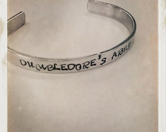 Dumbledores Army (custom made) Harry Potter cuff