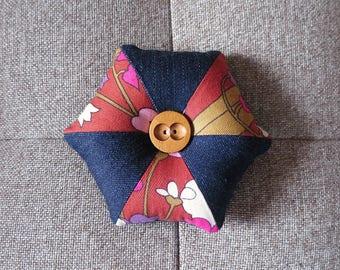 Pincushion - Retro Fabric and Denim