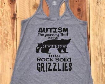 ADULT WOMAN Autism awareness autism mom autism mama bear shirt