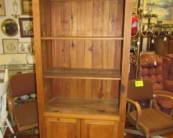 Tall pine shelf cabinet