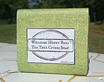 Tea Tree Citrus Essentail Oil Cold Pressed Beeswax Soap
