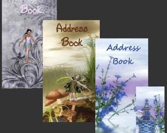 Fairy Address /Password Books Checkbook Size