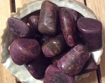 Ruby Small Healing Stone, Healing Crystal, Spiritual Stone, Meditation, Tumbled stone