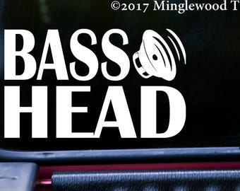 "BASS HEAD v3 Vinyl Decal Sticker 7.5"" x 4.5"" EDM Music Speaker Basshead Headbanger *Free Shipping*"