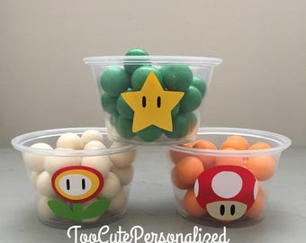 25 Super Mario Brothers Snack Cups-4 oz.