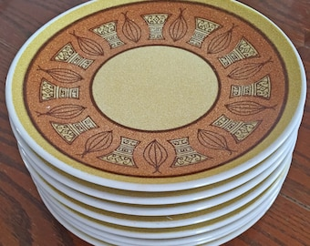 Taylor Smith Honey Gold Appetizer or Dessert Plates - Set of 8