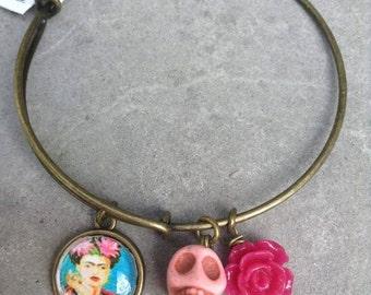 Frida Kahlo Jewelry - Frida Kahlo Bracelet - Charm Bracelet -