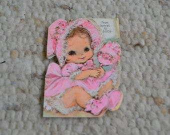 Vintage Baby Girl Birth Announcements