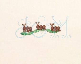 Mini Ants Embroidery Design