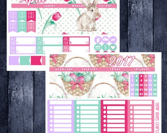 April Easter Monthly Stickers for HAPPY PLANNER