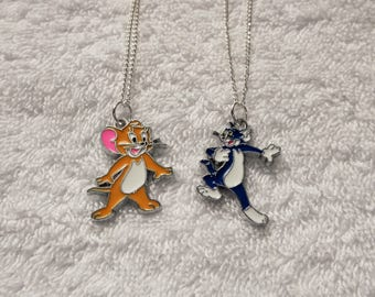 CAT & Mouse Inspired Necklaces TOM Or JERRY