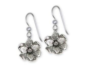 Magnolia Earrings Jewelry Sterling Silver Handmade Flower Earrings MG4-FW