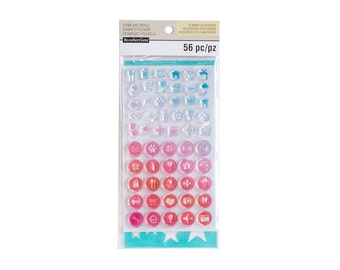 "Creative Year CIRCLE ICONS Planner Stamps & Stencil Set Acrylic stamps by Recollections 6"" x 3.5"" Stamps cc02"