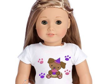 """Puppy Party- 18"""" Doll Shirt  (3014)"""
