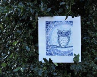 Night Hunter Print