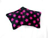 Rocker Girl Flannel Hand Warmers - Pink Black Stars Rock Reusable Rice Hand Warmers