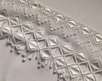 White venise lace trim, vintage
