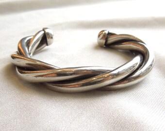 Mexican Sterling Silver Woven Bracelet