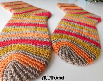 Dobby - Crochet Sock Pattern - Self Striping Sock Crochet Pattern - Socks Stripes Crochet Pattern - Easy Crochet Sock Pattern