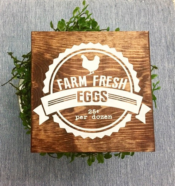 Farm Fresh Eggs Wooden Sign by HughesOColor