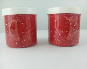 VINTAGE KITCHEN Salt and Pepper Shakers Kitchen Decor Rockabilly Kitchen Kitsch SUB148