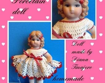Reproduction Porcelain doll