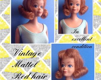 Beautiful Vintage 1963 Mattel Midge doll #860 Freckles Titian Redhead