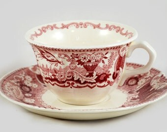 Vintage Dutch cup and saucer  Victoria Societe Ceramique Maestricht