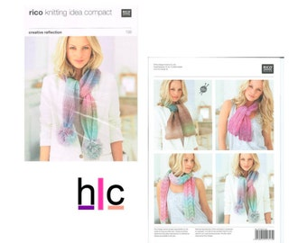 Rico knitting pattern 138 - Knitting Idea Compact, Scarf Knitting Patterns, Knitted Summer Accessories, Learn to Knit
