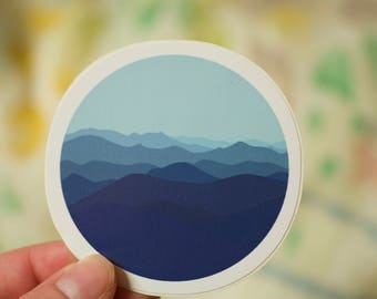Blue Ridge Mountains Vinal Decal: Laptop Sticker