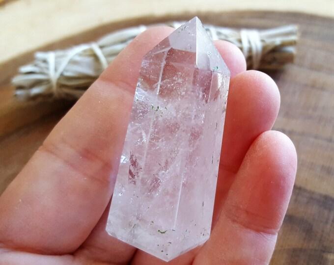 Clear Quartz Obelisk ~ 1 Reiki infused crystal obelisk approx 2x.7 inches (OBE12)
