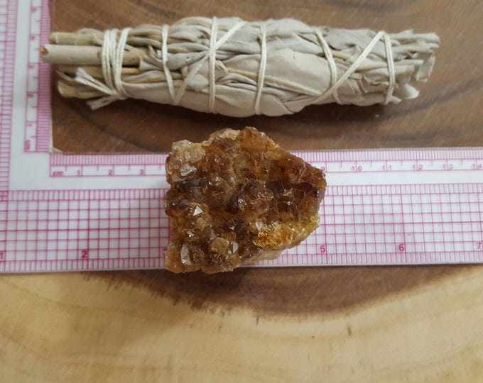 Citrine Cluster (Druze) ~ 1 Reiki infused cluster approximately 1.9x1.7x1.4 inches (CD36)