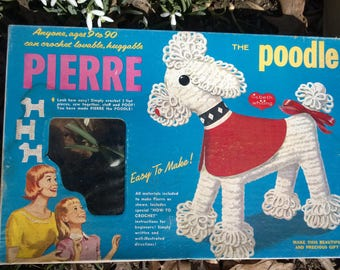 Pierre the Poodle Craft Kit Stuffed Toy 1967